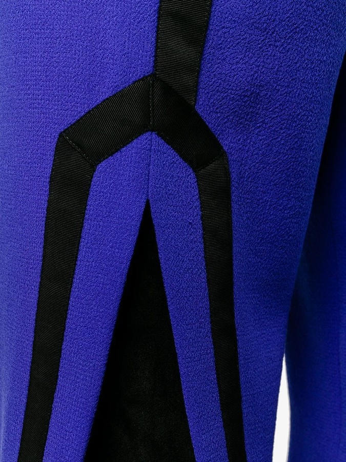 Thumbnail for your product : Osman Contrast Trim Side Slit Trousers