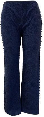 Philosophy di Alberta Ferretti Navy Cotton Trousers for Women
