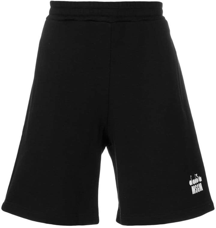 MSGM X Diadora track shorts