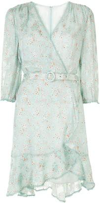 Jonathan Simkhai Floral Print Wrap Dress