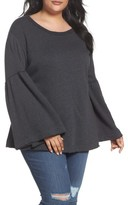 Plus Size Women's Caslon Bell Sleeve Sweatshirt