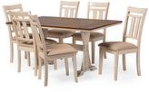 Baxton Studio Brown & Cream Seven-Piece Antique Oak Dining Set
