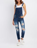 Charlotte Russe Machine Jeans Destroyed Overalls