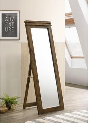 Furniture of America O'hara Wood Floor Mirror, Rustic Black