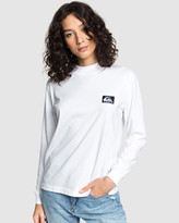 Quiksilver Womens Mock Neck Long Sleeve T Shirt