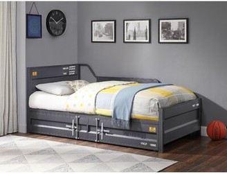 17 Stories Thompson Cargo Twin Daybed with Trundle Color: Gunmetal