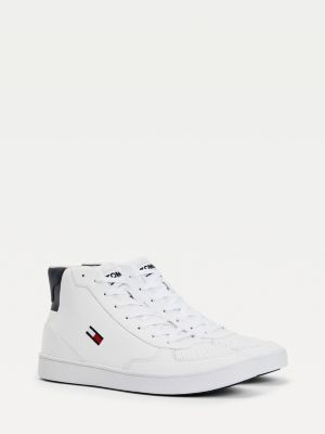 Tommy Hilfiger Leather High-Top Cupsole Trainers