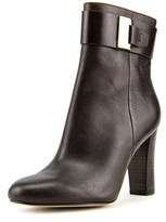 MICHAEL Michael Kors Guiliana Ankle Bootie Women Leather Brown Ankle Boot.