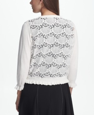 Open Front Cardigan with Lace Back, Created for Macy's