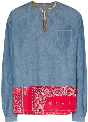 Visvim bandana panel chambray shirt