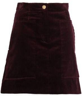 Sandro Cotton-corduroy Mini Skirt