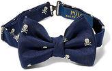 Ralph Lauren Skull & Bones Silk Bow Tie