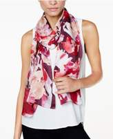 Vince Camuto Floral Photo Clash Silk Oblong Scarf