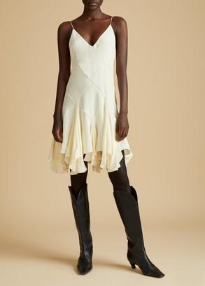 KHAITE The Harlequinn Dress in Ivory