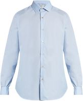 Paul Smith Double-cuff cotton-poplin shirt