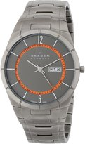 Skagen Men's SKW6008 Melbye Quartz 3 Hand Date Titanium Gray Watch