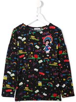 Dolce & Gabbana child's drawing print top - kids - Polyester/Spandex/Elastane/Modal/Viscose - 3 yrs