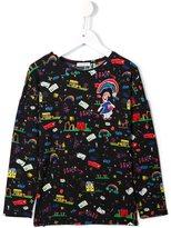 Dolce & Gabbana child's drawing print top - kids - Polyester/Spandex/Elastane/Modal/Viscose - 3 yrs