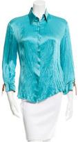 Roberto Cavalli Silk Button-Up Top