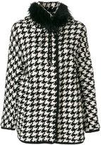Ermanno Scervino houndstooth coat - women - Cotton/Acrylic/Polyamide/Wool - 40