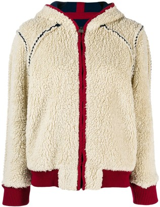 Chanel Pre Owned 2008's Shearling Effect Hooded Jacket