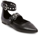 Mossimo Women's Briley Triple Strap Ballet Triple Buckle Ballet Flats Black