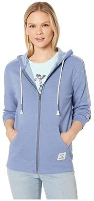 Life is Good Simply True Zip Hoodie (Vintage Blue) Women's Sweatshirt