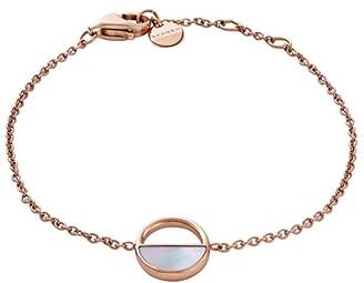 Skagen Agnethe Rose-Tone and Mother-of-Pearl Bracelet (Rose Gold) Bracelet