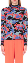 Emilio Pucci Floral-intarsia stretch-knit top
