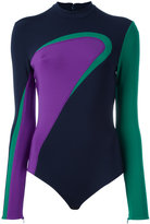 Versace colour wave neoprene body - women - Spandex/Elastane/Viscose - 40