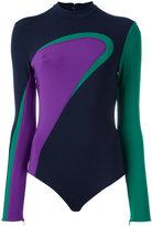 Versace colour wave neoprene body - women - Spandex/Elastane/Viscose - 42