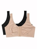 Fruit of the Loom Womens Comfort Front Close Sports Bra, 2 Pack, Style 96014PK