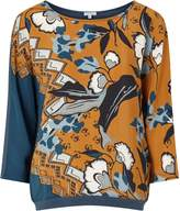 Jigsaw Northern Bloom Silk Front Top