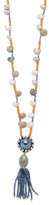 Deepa Gurnani Crystal Beaded Fringe Pendant Necklace