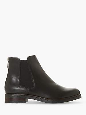Dune Porteau Leather Zip Up Ankle Boots
