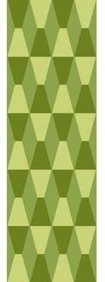 "Bronx Golda Hand Tufted Wool Foam/Lime Area Rug Ivy Rug Size: Runner 2'6"" x 8'"