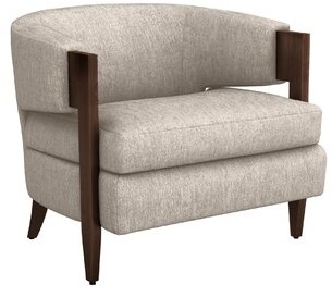 Interlude Kelsey Barrel Chair Fabric: Bungalow