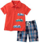 Kids Headquarters 2-Pc. Cotton Cars Polo Shirt & Cargo Shorts Set, Baby Boys (0-24 months)