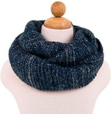 TrendsBlue Two-Tone Winter Knit Warm Infinity Circle Scarf