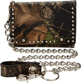 Camo M&F Western Mossy Oak Tri-Fold Wallet w/ Chain