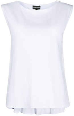 Emporio Armani Back Peplum Hem Sleeveless Blouse