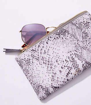 LOFT Snake Print Sunglasses Case