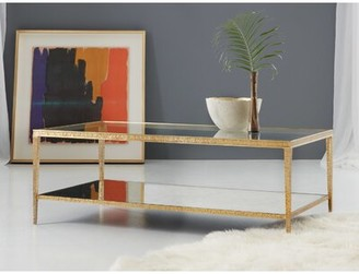 Modern History Sculpture Coffee Table Home Table Base Color: Antique Brass
