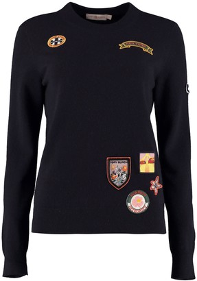 Tory Burch Patches Cashmere Sweater