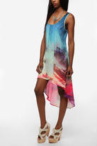 Silky Photo Print Dress