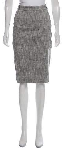 Silk-Blend Woven Pencil Skirt