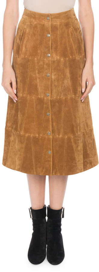 c9b5c45579 Suede Camel Skirt - ShopStyle
