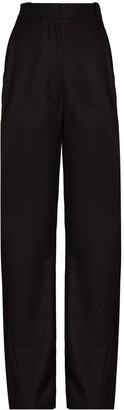 Eftychia Pinstripe Wide-Leg Trousers