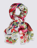 M&S Collection Sequin Floral Scarf