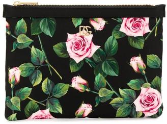 Dolce & Gabbana Rose Canvas Pouch